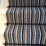 Carpet, Kingsmead Artwork Stripe Runner & Fitted With Stair Rods Homepride In Black