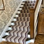 Stair carpet by Brockways in Dimensions Stripe