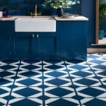 Kitchen floor by Harvey Maria in Oxford Blue