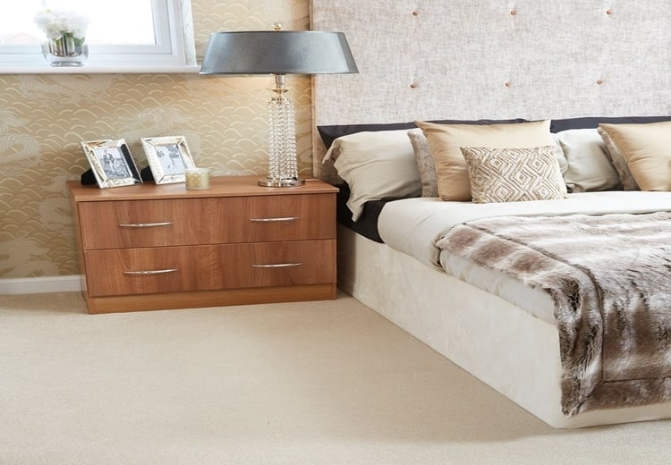 Bedroom carpet by Abingdon Stainfree range.