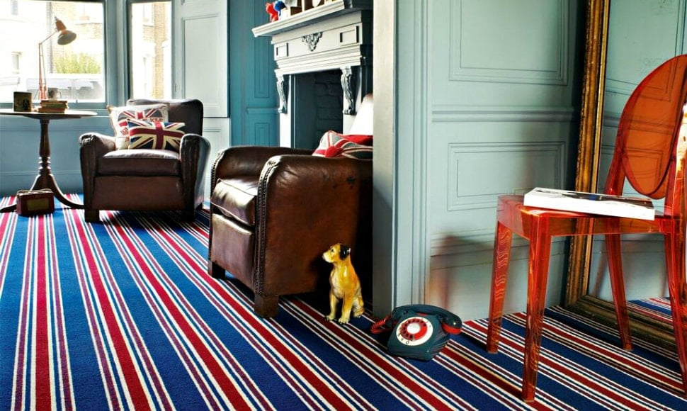 Carnaby Union Stripe by Brockway wool carpets at Floormaster Yorkshire