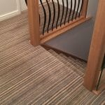 White Stone Weavers Wool Carpet Axminster Stripe