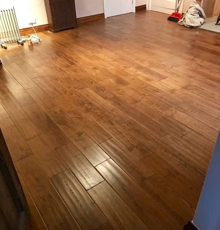Tuscan Wooden Floor In Golden Oak