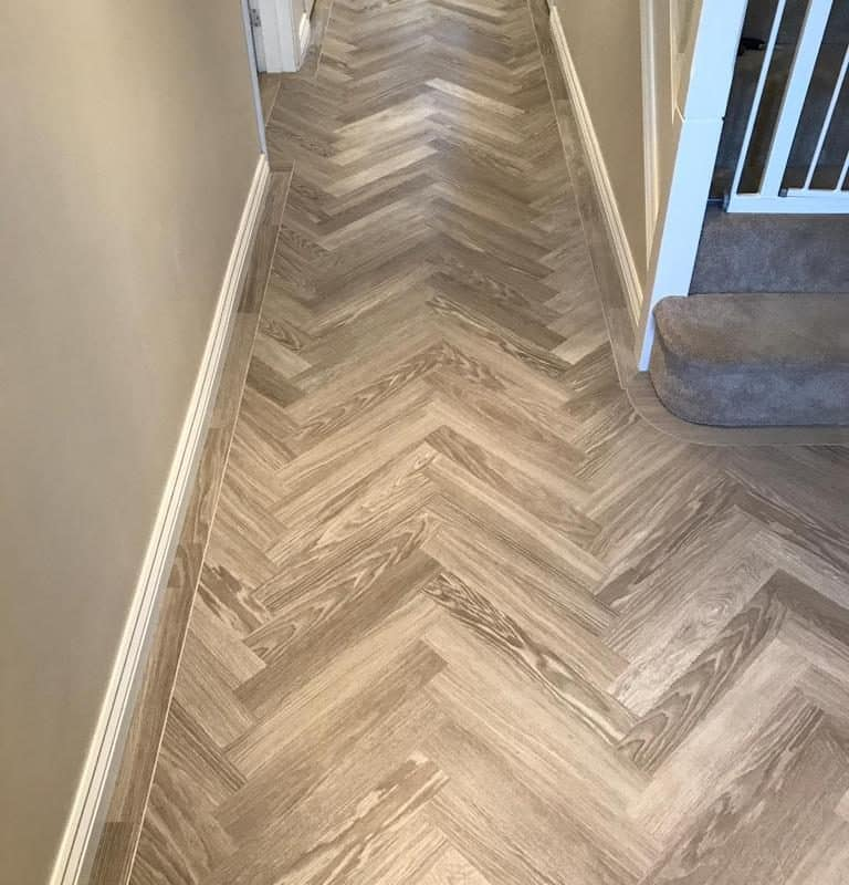 Karndean Knight New Parquet design in Grey Limed Oak