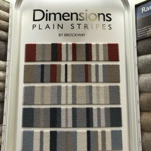 dimensions plain stripes by brockway wool carpets