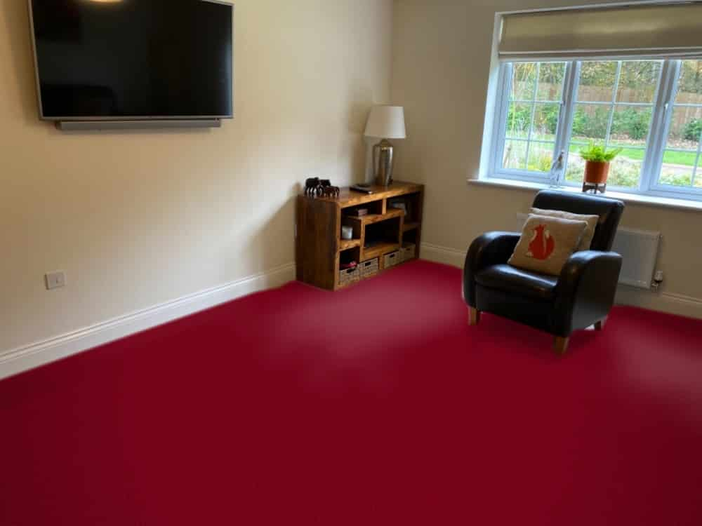 Hugh Mackay Carpets Quintessential in Rasberry Fool, Online Carpet Visualiser